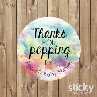 Personalised 'Thanks for Popping by' Stickers